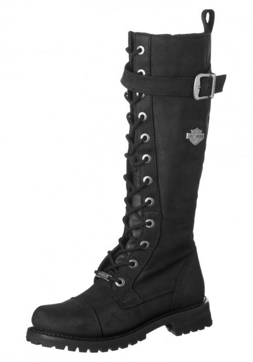 Boots Moto Harley Davidson Savannah Black (Ref : D81489) Women Boots