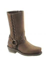 Harley Davidson Boots / Auburn Harness Studs D85432 Women