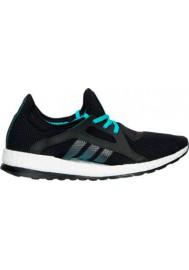 Adidas Womens Shoes Pure Boost X Running AQ6681-BKG Core Black/Shock Green