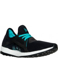 Adidas Womens Shoes Pure Boost X Running AQ6681-BKG Core Black/Shock Green
