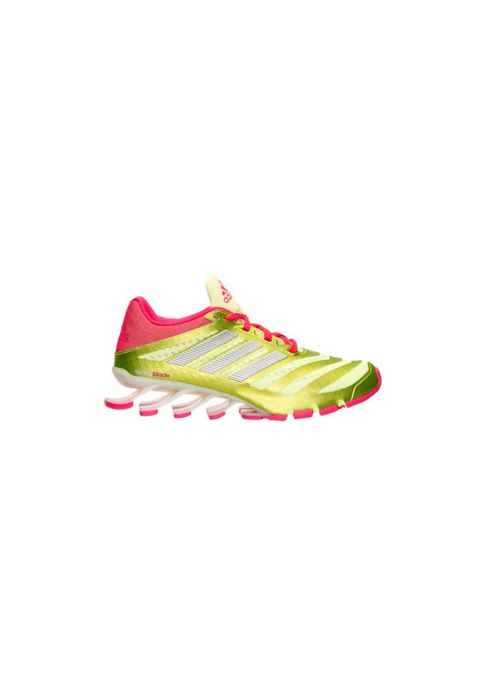 Adidas Trainers Ladies Springblade Ignite Running D69801-YLW Frozen Yellow/Bold  Pink/White