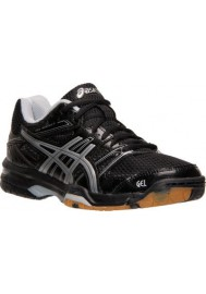 Womens Running Shoes Asics GEL Rocket 7 Volleyball B455N-093 Black/Silver