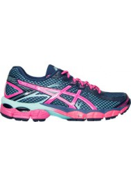 Womens Running Shoes Asics GEL Flux T568Q-502 Medium Blue/Pink/Aqua