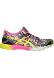 Womens Running Shoes Asics GEL Hyper Tri T581N-990 Onyx/Yellow/Pink