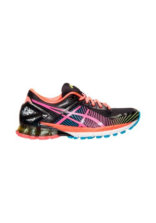 the latest b1e3f 61326 Womens Trainers Asics GEL Kinsei 6 T692N-903 Black/Hot Pink/Flash Yellow