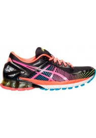 Womens Trainers Asics GEL Kinsei 6 T692N-903 Black/Hot Pink/Flash Yellow