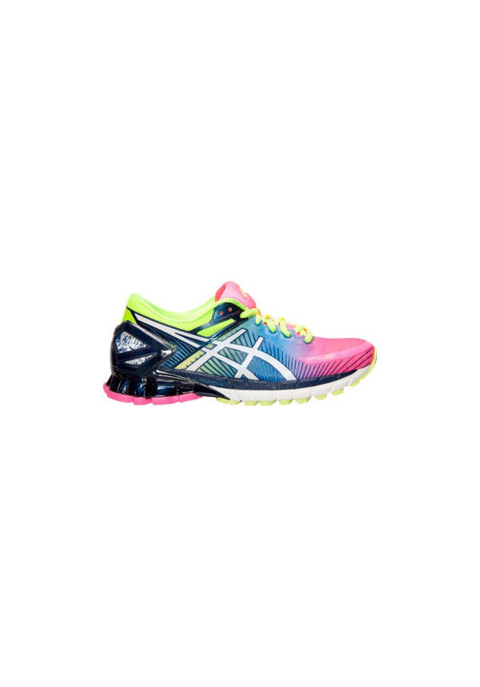 online store f9653 15cfe Womens Trainers Asics GEL Kinsei 6 T694N-340 Hot Pink/White/Flash Yellow