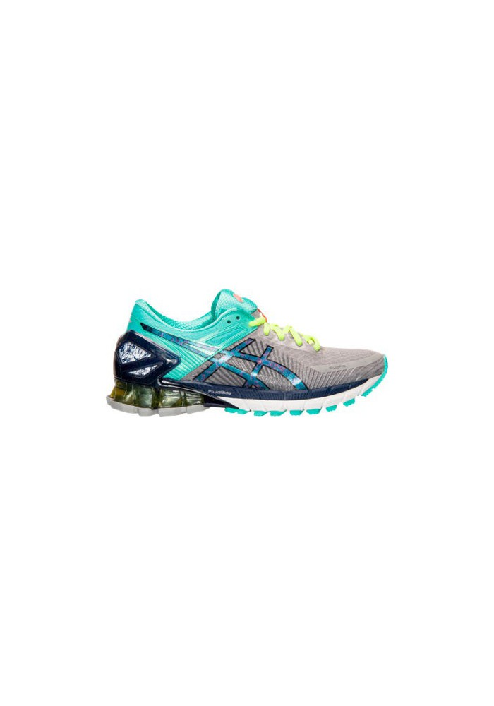 detailed pictures a8f98 3f3ae Womens Trainers Asics GEL Kinsei 6 T692N-139 Gradient Grey/Turquoise/Yellow