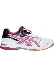 Womens Trainers Asics GEL Rocket 7 Volleyball B455N-012 White/Magenta/Black