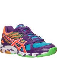 Womens Trainers Asics GEL Flashpoint 2 Volleyball B456N-831 Purple/Orange/Neon Blue