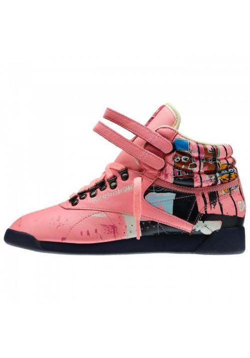 Reebok Freestyle Hi Int Basquiat Pink V48184 Women Fitness