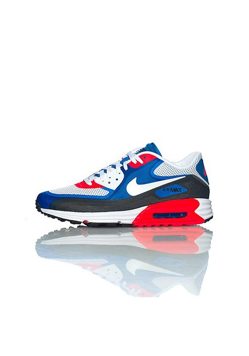 Nike Air Max 90 Lunar C 3.0 631744 004 Blue Red Shoes Running Men