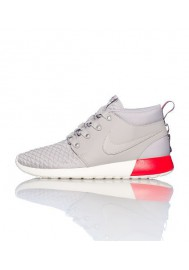 Men Nike Rosherun Mid Silver (Ref : 615601-009) Running