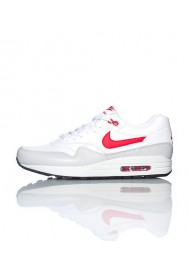 Nike Air Max 1 Leather White (Ref : 654466-102) Men Running