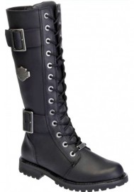Harley Davidson Women Boots Belhaven Motorcycle Black D87082