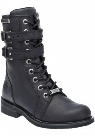Harley Davidson Women Boots Bradbrook Motorcycle Black D87121